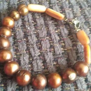 Jewelry - Brown pearl bracelet